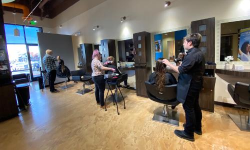 photo inside hair salon studio